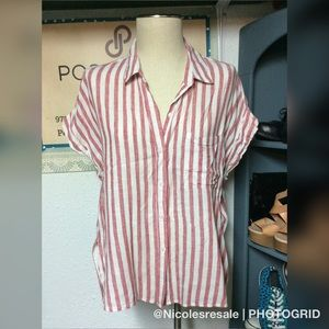 Rails Red Striped Button Down